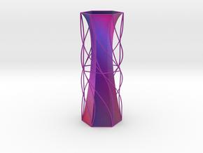Vase Hex1924 in Full Color Sandstone