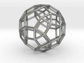 "Rhombicosidodecahedron Precious Metals 1"" in Natural Silver"