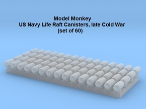 1/500 Life Raft Canisters, late Cold War-era USN in Smoothest Fine Detail Plastic
