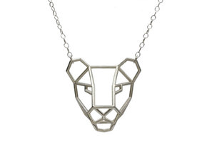 Lioness Pendant in White Strong & Flexible