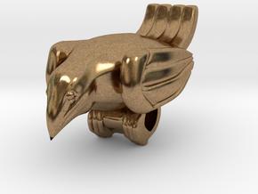 Bird Pendant  in Natural Brass