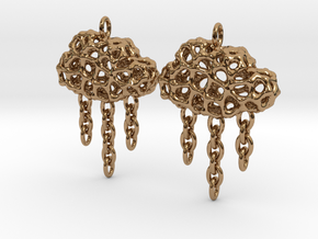 Rainy Earrings in Polished Brass (Interlocking Parts)