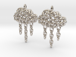 Rainy Earrings in Platinum