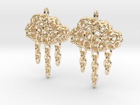 Rainy Earrings in 14k Gold Plated Brass