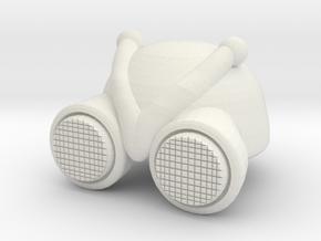 MOTU Inspired Custom Buzz Off Helmet for LEGO in White Natural Versatile Plastic