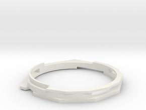 Christmas '18 Bangle MED in White Natural Versatile Plastic