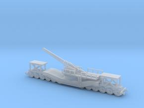 cannon de 240 1/76  railway artillery ww1  in Smooth Fine Detail Plastic