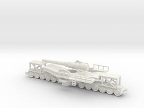 cannon de 240 1/72 higt  adjustable  in White Natural Versatile Plastic