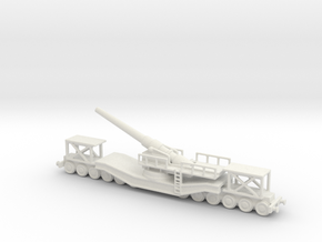 cannon de 240 1/100 railway artillery ww1  in White Natural Versatile Plastic