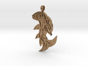 Shard Fish Pendant (inverted) in Natural Brass