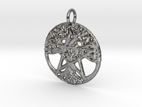 Creator Pendant in Polished Silver