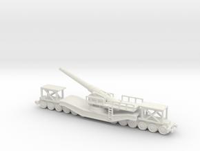 cannon de 240 1/200  railway artillery ww1  in White Natural Versatile Plastic