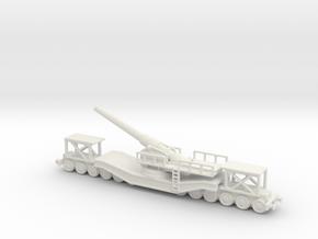 cannon de 240 1/160 railway artillery ww1  in White Natural Versatile Plastic