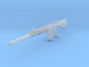 1/10th K11 with suppressor in Smooth Fine Detail Plastic