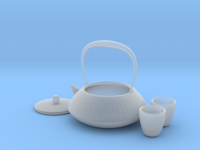 Japanese Tea Set 1/6 in Smoothest Fine Detail Plastic