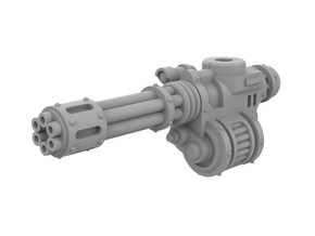 Mini Knight - Rotary Gun (Left side) in Smooth Fine Detail Plastic