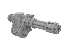 Mini Knight - Rotary Gun (Right side) in Smooth Fine Detail Plastic