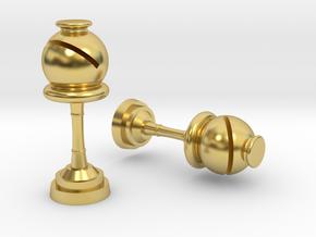 Bishop (Inception) Cufflinks in Polished Brass