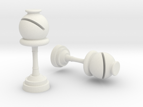 Bishop (Inception) Cufflinks in White Natural Versatile Plastic