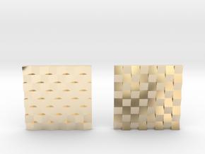 Chessboard Earrings in 14K Yellow Gold: Medium