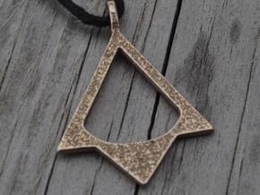 AC Brotherhood - Thieves' necklace in Polished Bronzed Silver Steel