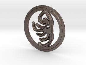 Beast's Embrace Rune in Polished Bronzed Silver Steel