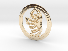 Beast's Embrace Rune in 14k Gold Plated Brass