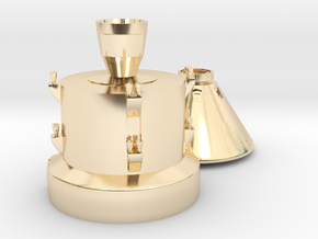 Orion capsule and booster stage in 14K Yellow Gold