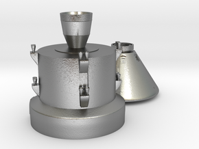 Orion capsule and booster stage in Natural Silver