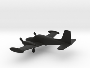 Cessna 310A in Black Natural Versatile Plastic: 1:144
