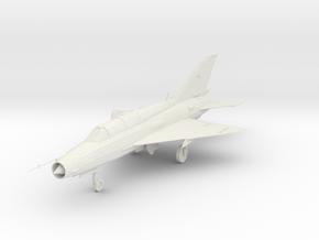 Mikoyan MiG-21UM 1/87 in White Natural Versatile Plastic