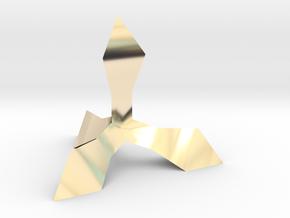 Caltrop 1 in 14K Yellow Gold