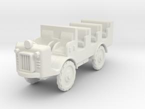 Autocarretta 36 mod1 1:87 in White Natural Versatile Plastic