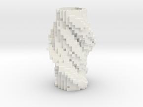 Cubic Vase 1232 in Glossy Full Color Sandstone