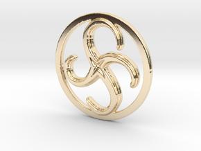 Anti-Clockwise Metamorphosis in 14k Gold Plated Brass
