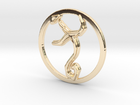 Guidance in 14k Gold Plated Brass