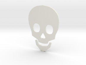 Time to Die Skull in White Natural Versatile Plastic