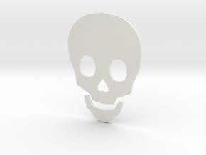 Time to Die Skull in White Natural Versatile Plastic