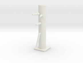 Desktop Mini Wooden Dummy in White Premium Versatile Plastic