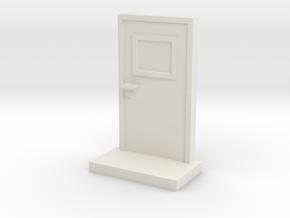 Metal Door in White Natural Versatile Plastic