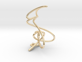 Wire knot pendant necklace in 14K Yellow Gold