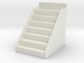 Printle Thing Bleachers 7 ranks Vertical - 1/87 in White Natural Versatile Plastic