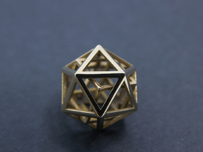 Iso Cube in Polished Brass (Interlocking Parts)