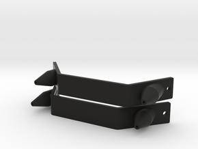 Pair of Toe Plates & Spikes MOW 2013-14 boots ROTJ in Black Premium Versatile Plastic
