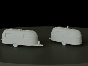 Airstream Trailer scale: 1:144 in Smooth Fine Detail Plastic