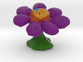 Flower Full-Color Figure in Natural Full Color Sandstone