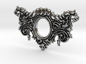 Mandibula Pendant in Antique Silver