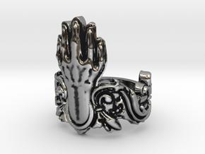 Manus Ring in Antique Silver: 8 / 56.75