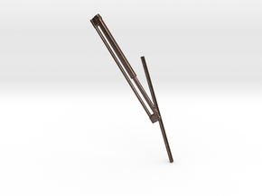 1.5windshieldwiperRightSideV2.stl in Polished Bronze Steel