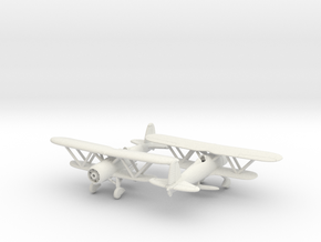 1/200 Fiat CR.42 in White Natural Versatile Plastic